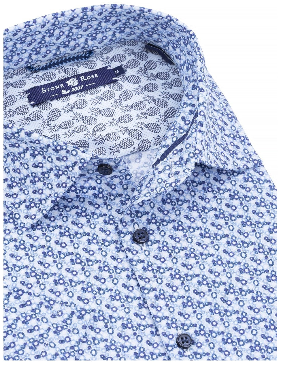 Stone Rose Geometric Soft Stretch Woven SS Shirt