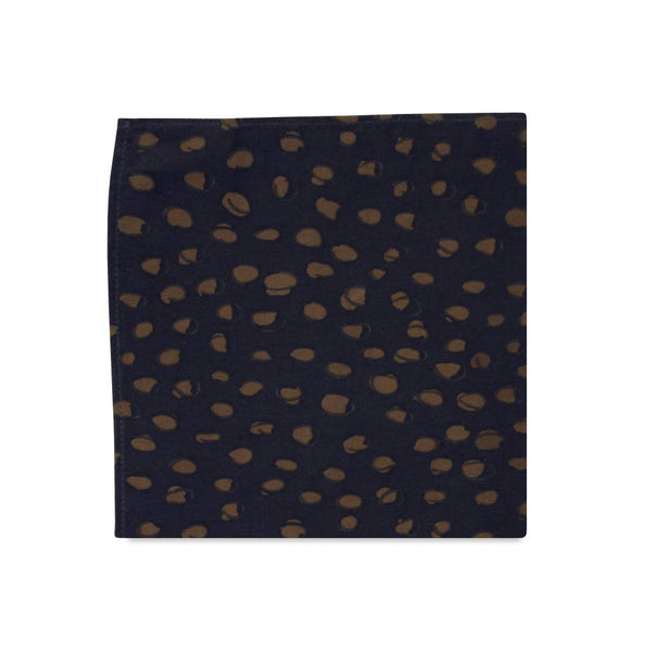PSC Holm Abstract Print Peach Skin Fabric Pocket Square
