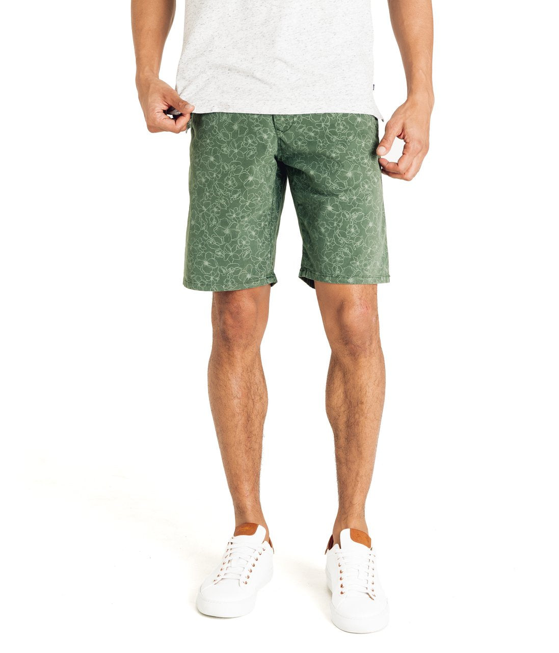 Good Man Brand Wrap Artistic Floral Soft Stretch Shorts