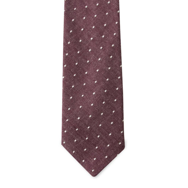 PSC Wilson Polka Dot Cotton Chambray Tie