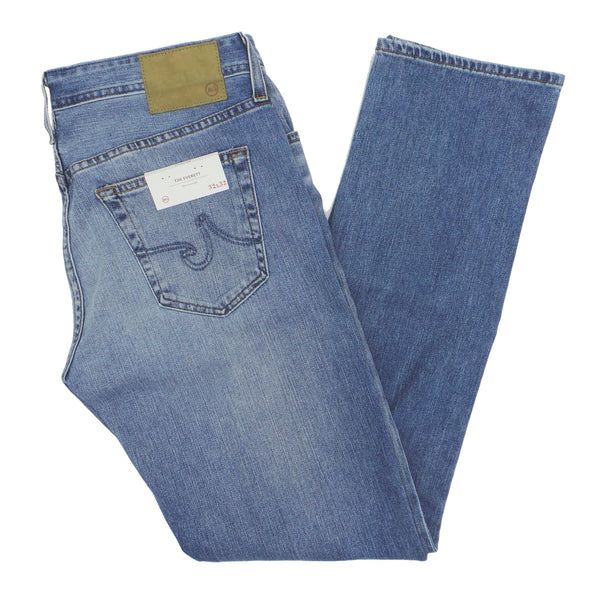 AG Adriano Goldschmied Everett Slim Straight Falling Star Light Wash Denim Jeans