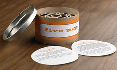 Five Ply Design Wood Coasters Dinner Party Series