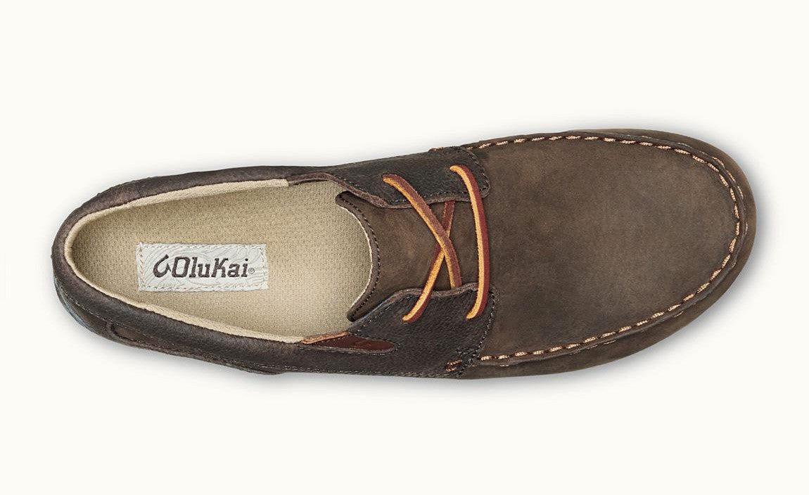 OluKai Mano Waxed Nubuck Leather Deck Shoes