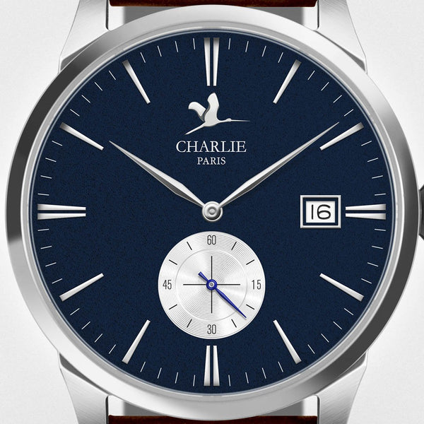 Charlie Paris Bastille B4.6 Blue Miyota Quartz Steel Band Watch