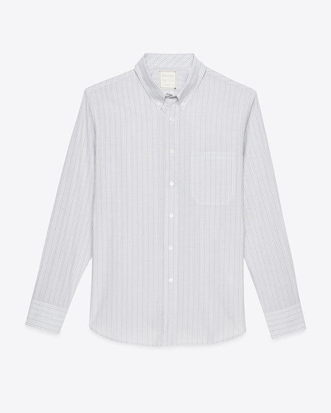 Billy Reid Tuscumbia Soft Cotton LS Striped Shirt