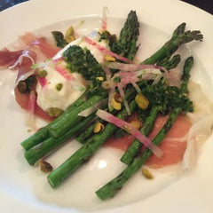Grilled Asparagus with Burrata & Prosciutto