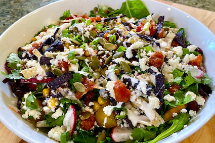 Southwestern Salad with a Cilantro Lime dressing