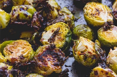 Maple Balsamic & Bacon Olive Oil Oven Roasted Brussels Sprouts
