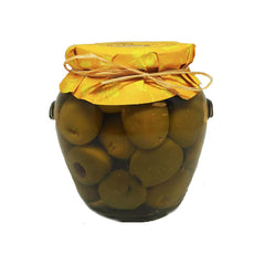 Large Pitted Green Queen Olives - 20oz Jar