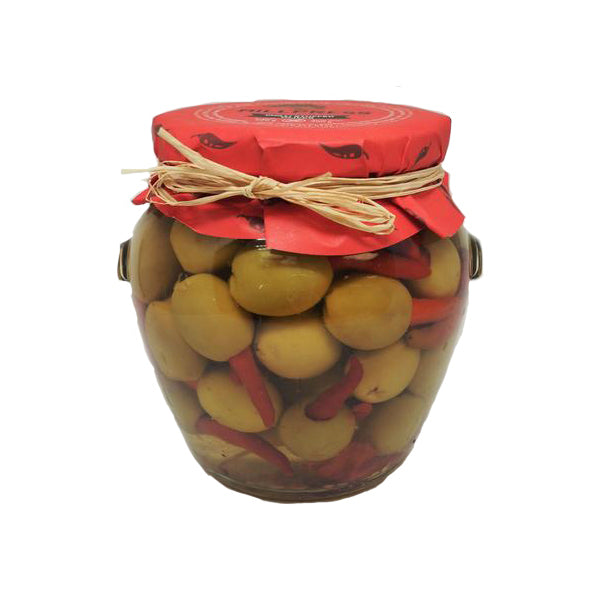Red Chili Stuffed Olives - 20oz Jar