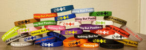 Nothing But Positive Energy Wristbands (100 Assorted Colors)