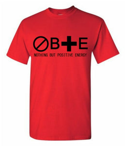 Design 1: Kids Unisex Nothing But Positive Energy Short Sleeve Crew Neck T-Shirt