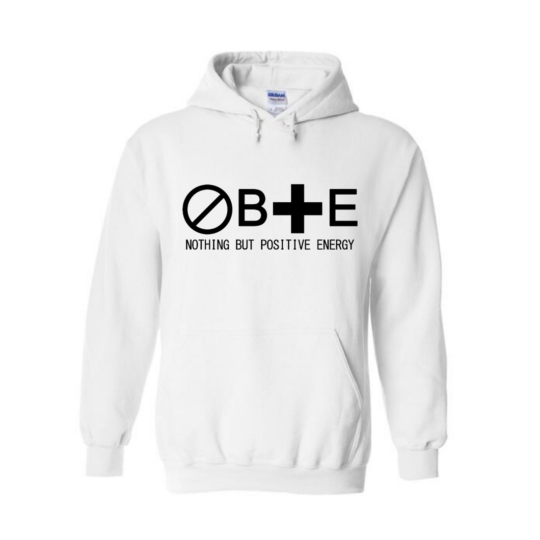 Design 1: Kids Unisex Nothing But Positive Energy Hooded Sweatshirt