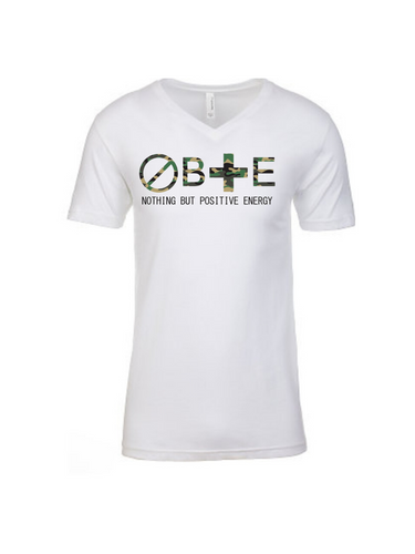 Camouflage: Men's Fitted Nothing But Positive Energy Short Sleeve V-Neck T-Shirt