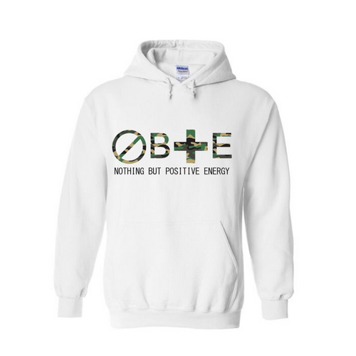 Camouflage: Unisex Nothing But Positive Energy Hooded Sweatshirt