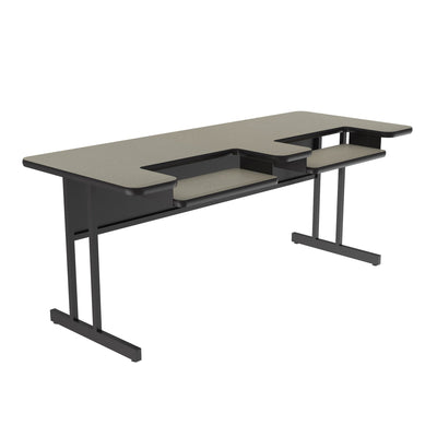 High-Pressure Computer & Training Tables — Bi-Level Work Station