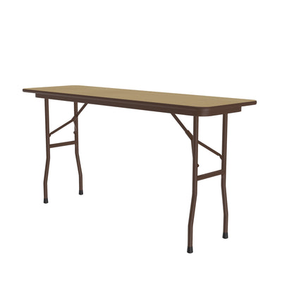 Commercial High-Pressure Folding Tables, Standard Height — Wood Grain Tops