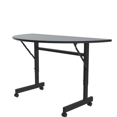 Econoline Flip Top Tables — Melamine, Adjustable Height