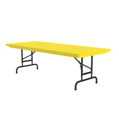 Heavy Duty Commercial Plastic Folding Table — Adjustable Height