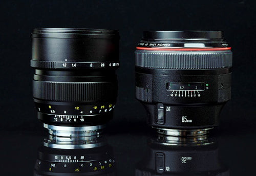 Mitakon and Canon 85mm f/1.2 lenses compared