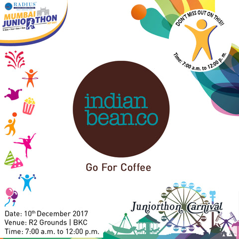 mumbai juniorthon run coffee indian bean