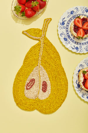 Pear placemat – Bright yellow