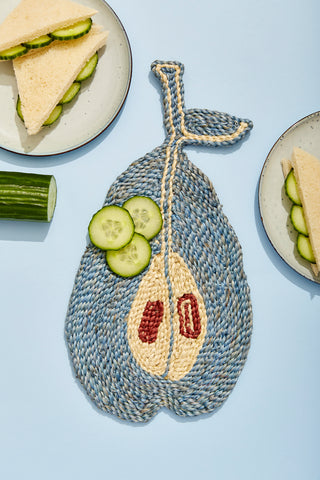Pear placemat - Light Blue