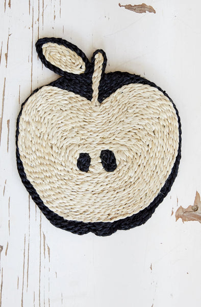 Apple placemat- Black