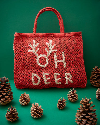 Oh Deer- Red with natural
