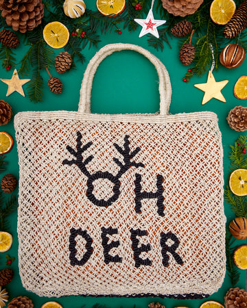 Oh Deer- Natural with Black
