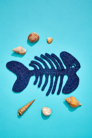Fish placemat- Blue