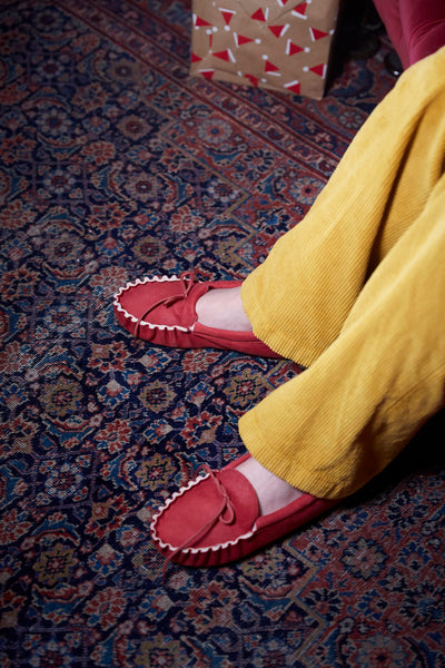 Red Suede Slippers