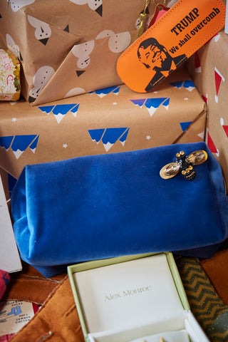 Make-up bag with bug pin