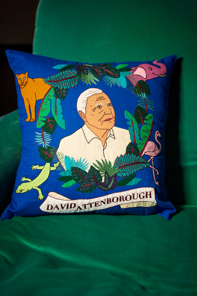 David Attenborough Cushion