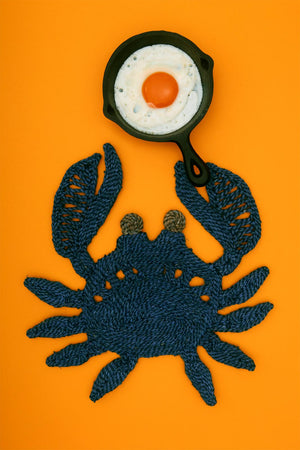 Crab placemat- Blue