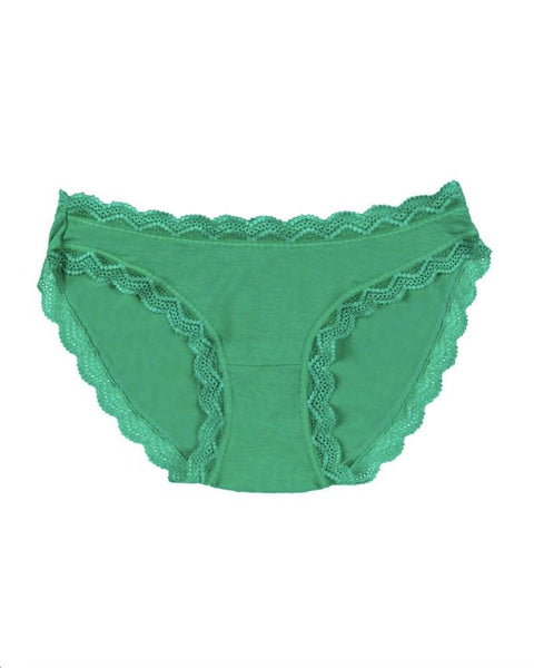 Stripe & Stare Knickers - Emerald Green