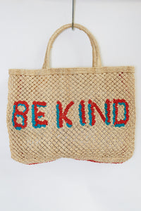 Be Kind- Natural with red and turquoise