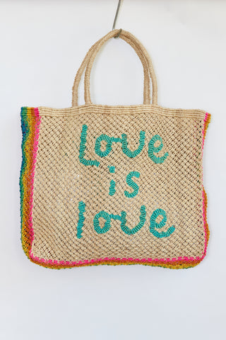 Love is Love – Natural with Aqua and Rainbow