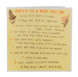 Advice for a great Marriage Card