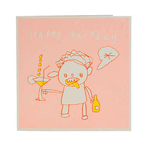 Happy Burpday Card