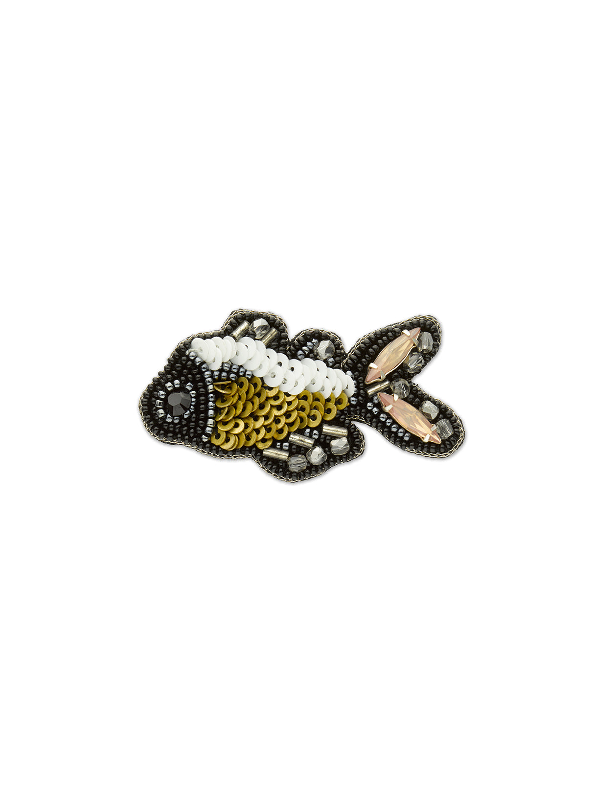 Black Fish Brooch