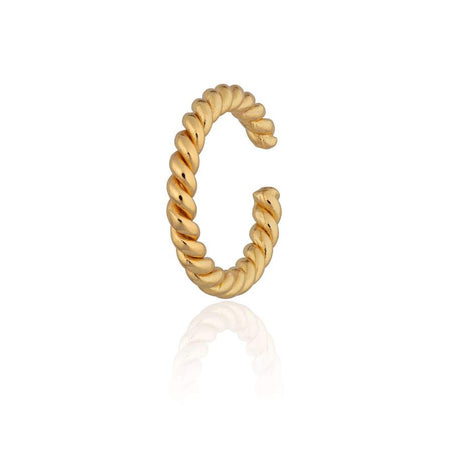 Twist gold ear cuff