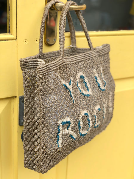 You Rock! - Khaki with Natural and Blue