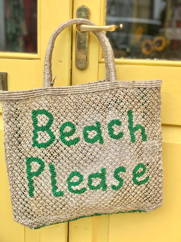 Beach Please – Natural with Green