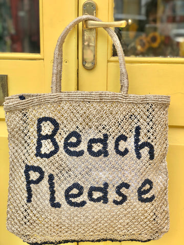 Beach Please – Natural with Indigo