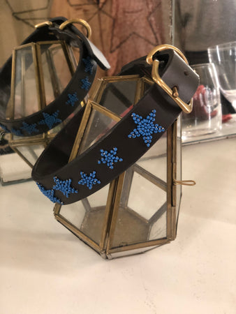 Dog Collar with Blue stars