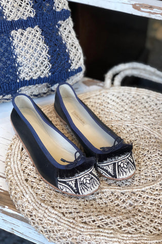 Arabian Nights Black Ballet Flats