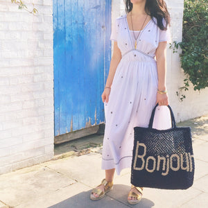 Bonjour - Navy and Natural