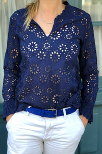 Kardiff Navy Blouse