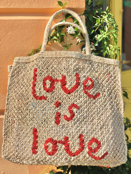 Love is Love- Natural with Red